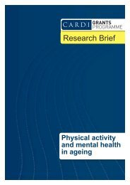 Physical activity and mental health in ageing - CARDI