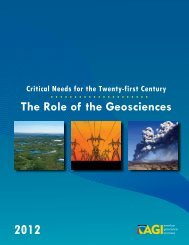 The Role of the Geosciences - American Geological Institute