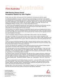 2006 Stanley Hawes Award: Acceptance Speech by John Hughes