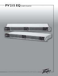 PV®215 EQ Graphic Equalizer - Sweetwater.com