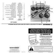 instructions and parts list instructions et liste des pièces ...
