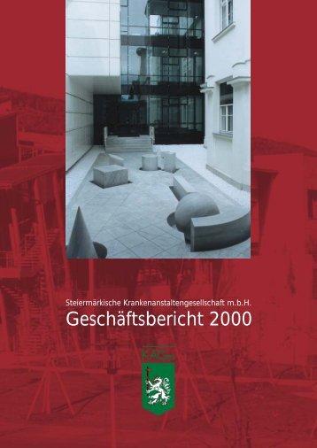 Geschäftsbericht 2000 - KAGes