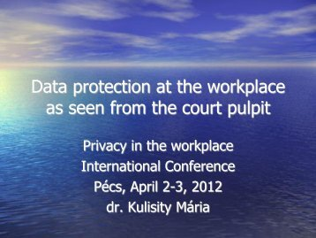 Data protection at the workplace as seen from the court pulpit