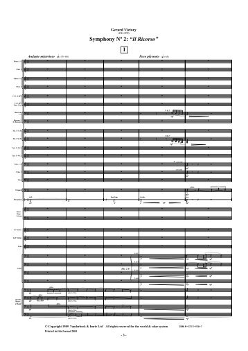 Symphony No. 2: 'Il Ricorso' (Full Score) - Vanderbeek & Imrie Ltd ...