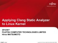 Applying Clang Static Analyzer to Linux Kernel - The Linux Foundation