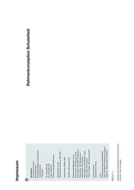 Rahmenkonzeption Schularbeit - Schulen in Oberfranken