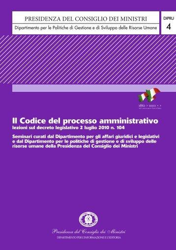 Il Codice del processo amministrativo - Governo Italiano