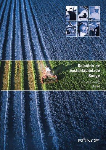 Relatório de Sustentabilidade Bunge