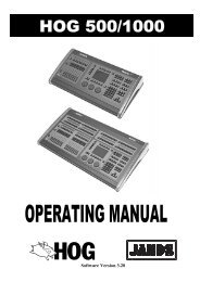 Hog 500/1000 Operator's Manual - Jands