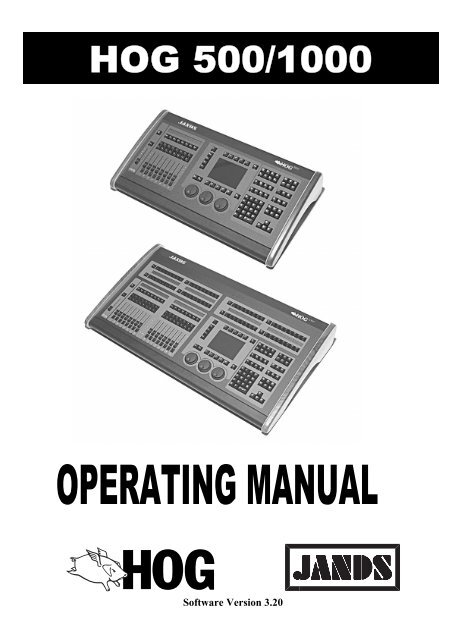Hog 500/1000 Operator's Manual - Jands