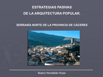 estrategias pasivas de la arquitectura popular. - Proyecto EDEA