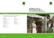 Ausbildung zum/zur Gastronomiemanager/in