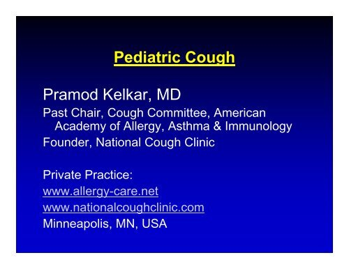 Pramod Kelkar - World Allergy Organization