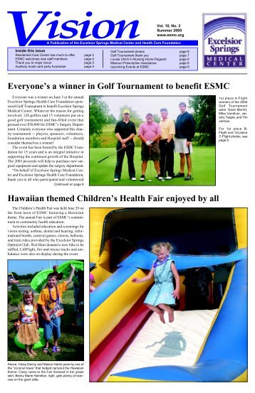 Everyone's a winner in Golf Tournament to benefit - Excelsior Springs