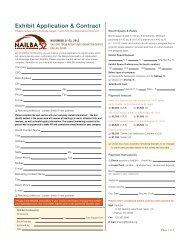 Exhibit Application & Contract - Nailba