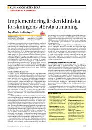 Implementering är den kliniska forskningens största utmaning