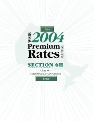 2004 premium rates - wsib