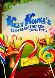 Willy Wonka's Chocolate Factory Themed Events