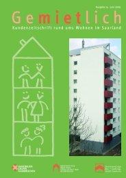 Kundenzeitung Gemietlich, Ausgabe 14 - Immobiliengruppe ...