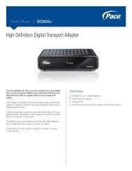 Data Sheet - Pace DC60Xu High Definition Digital Transport Adapter