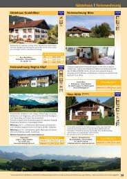 Gästehaus | Ferienwohnung - Halblech