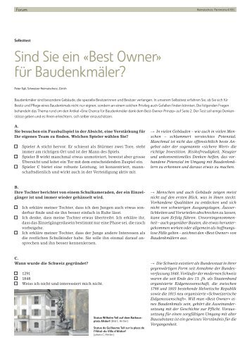 Best Owner - Schweizer Heimatschutz