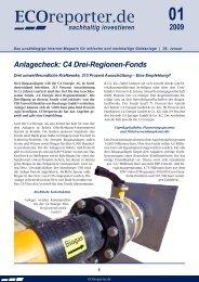 Anlagecheck: C4 Drei-Regionen-Fonds - ECOreporter.de