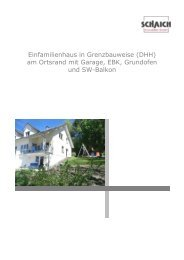 Einfamilienhaus in Grenzbauweise (DHH) - Schaich Immobilien