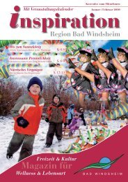Januar-Februar 2010:Layout 1 - Magazin Inspiration - Bad Windsheim