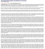 Perspektif Hindu dalam Tari Bali dan Tari Pendet