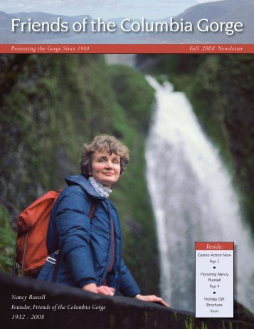 Fall 2008 - Friends of the Columbia Gorge
