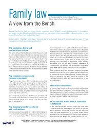 A view from the Bench by The Honourable Mr ... - practicePRO.ca