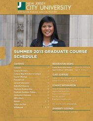 Summer 2013 graduate course information - New Jersey City ...