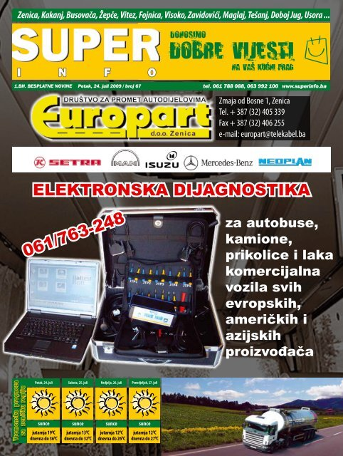 ElEktronska dijagnostika 061/763-248 - Superinfo