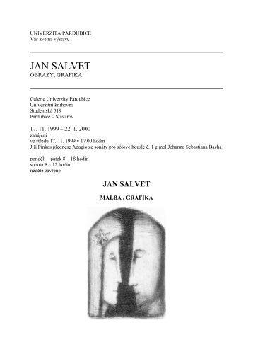 JAN SALVET - Univerzita Pardubice