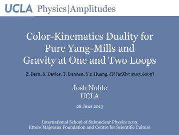 Color-Kinematics Duality for Pure Yang-Mills and ... - Ettore Majorana