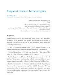 Risques et crises en Terra Incognita - Patrick Lagadec