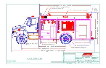 SCBA Refill Air and Light Drawing - Summit Fire Apparatus