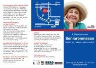 Seniorenmesse - WFO Wirtschaftsförderung Oberhausen GmbH