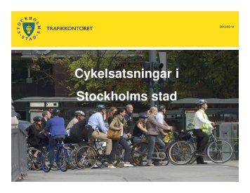 Stockholms stad, åtgärder 2012 - SLL Tillväxt, miljö och ...