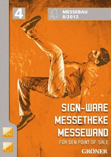 Sign-Ware Messetheke Messewand