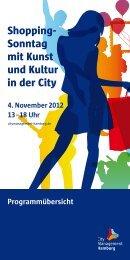 Shopping- Sonntag mit Kunst und Kultur in der City