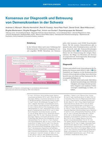 Konsensus zur Diagnostik und Betreuung von ... - alzbb