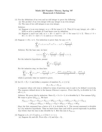 Number theory homework