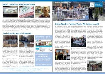 Ausgabe 01/2013 - Deutsches Tierschutzbüro eV