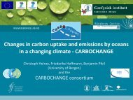 Changes in carbon uptake and emissions by ... - CarboChange