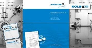 Bag -in- Box - Hans Kolb Wellpappe GmbH & Co
