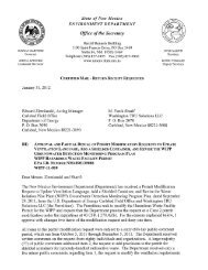 Approval and Partial Denial of Permit Modification Request to ...