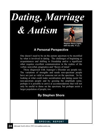Dating, Marriage & Autism - Autism Expert Stephen Shore