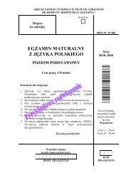 egzamin maturalny z języka polskiego poziom ... - dlaStudenta.pl